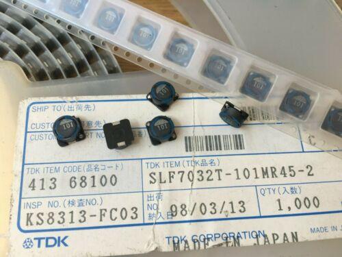 TDK SLF7032T-101MR45-2 Power blindé WW 100uH 20/% Inducteur 5 pieces Z3923