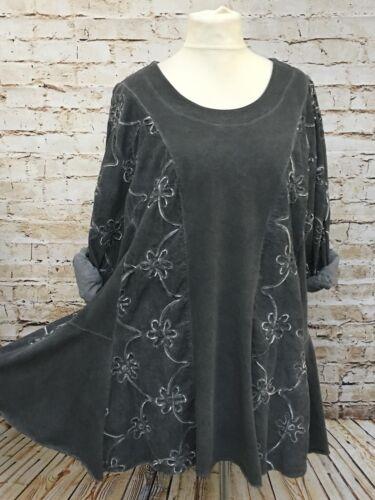 48 Neu 2 Übergröße Grau Fashion 52 Lagenlook Moonshine 50 Herbst Cord Gr Tunika HFnwq