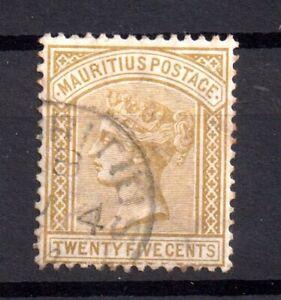 Mauritius-1879-QV-25c-fine-CDS-used-SG97-WS16699