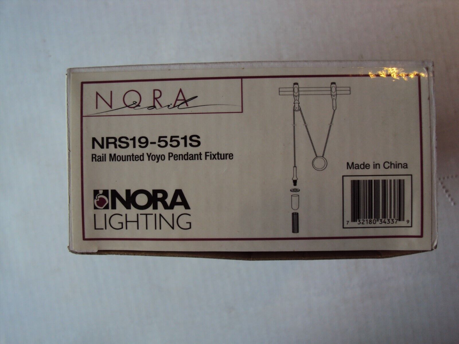 Nora Lighting  NRS19-551S Rail Mounted Yoyo Pendant Fixture
