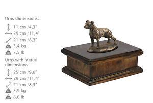 Amstaff uncropped, dog exclusive urn made of cold cast bronze, ArtDog, CA - Zary, Polska - Amstaff uncropped, dog exclusive urn made of cold cast bronze, ArtDog, CA - Zary, Polska