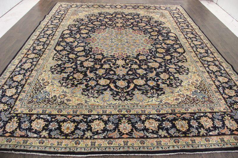 Persian traditional antique wool 9.8 x 12.4 oriental rug handmade