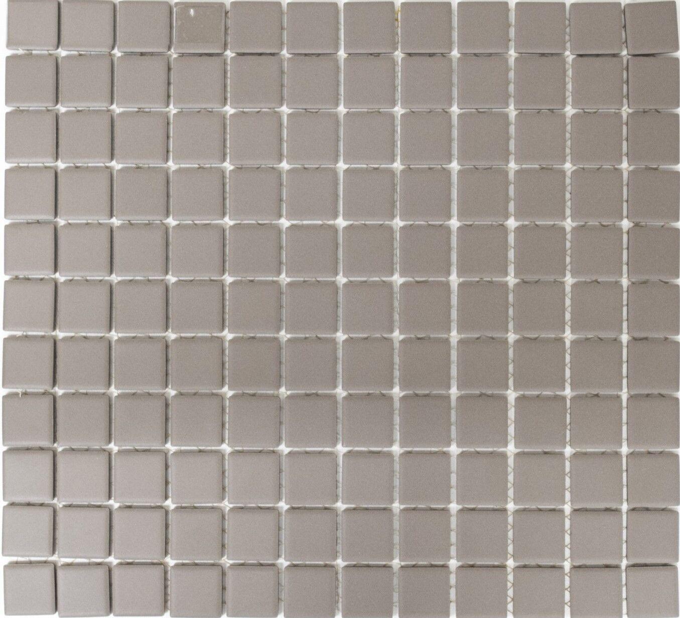 Mosaik Keramik grau Bad Pool Wand WC rutschhhemmend | 18B-0211-R10_f | 10 Matten