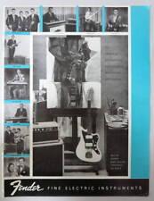 FENDER MUSICAL INSTRUMENTS 1960-61 PRODUCT BROCHURE CATALOG DOWNBEAT REPRINT #3