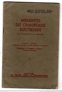 LIVRE-MEMENTO-CHAUFFAGE-ELECTRIQUE-1945-GAUTHERET-amp-TOURNIER-AP-EL-IMP-MONSOURIS