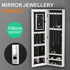 Mirrored Jewelry Cabinet Armoire Organizer Storage Wall Mount
