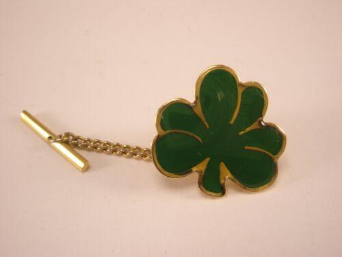 Patrick/'s Day St Clover Lucky Anniversary Shamrock Pin. Vintage Shamrock Tie Tack Brooch