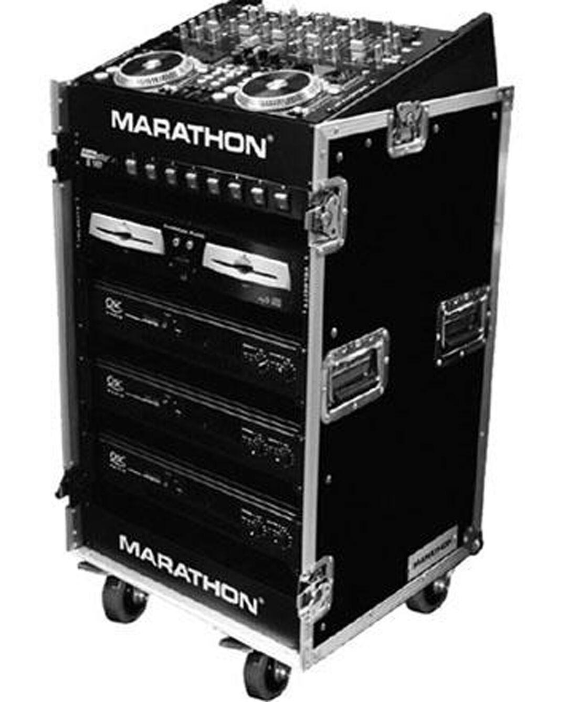 Marathon Flight Road Case MA1016WE 10u Slant Mixer Rack 16 U Grünical Rack Syste