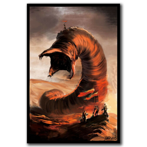 Dune Frank Herbert Giant Worm Muad/'Dib Art Hot 12x18 24x36in FABRIC Poster N3527