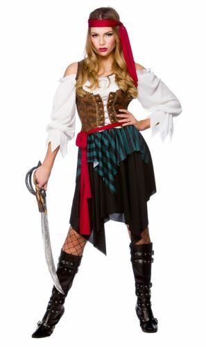 Ladies Caribbean Pirate Lady Costume Womens Fancy Dress Outfit