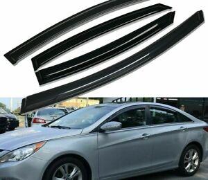 Fits-2011-2014-Hyundai-Sonata-Mugen-Style-Acrylic-Window-Visors-rain-4Pc-Set