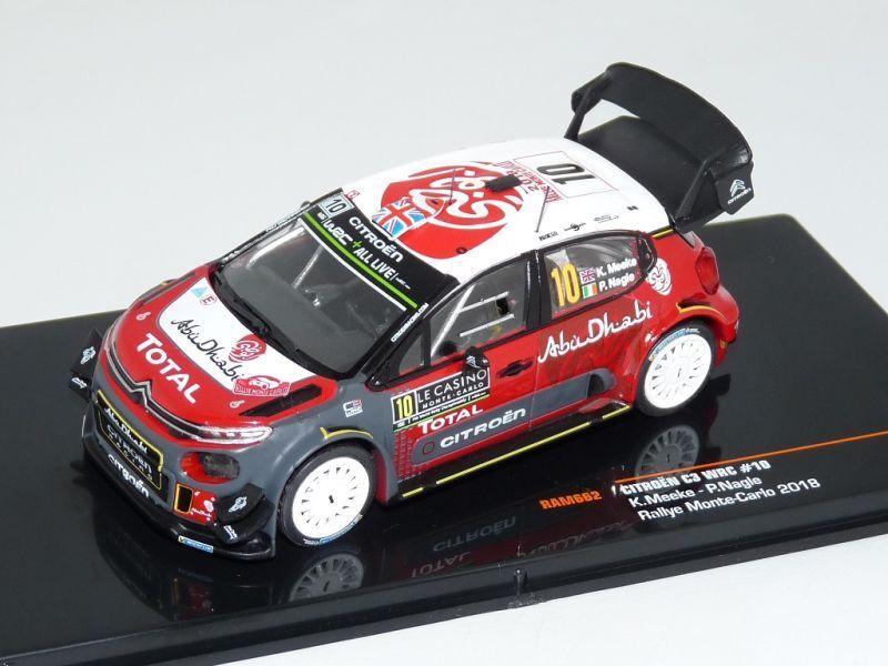 Ixo 1 43 Citroen C3 WRC K.Meeke Monte Carlo 2018 RAM662 Brand new