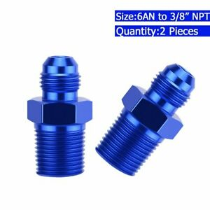 2X-Straight-6AN-Flare-Male-to-3-8-034-NPT-Pipe-Adapter-Fitting-6-AN-Bare-Aluminum