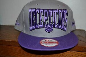 eb5008663ad Image is loading Transformers-SNAPBACK-FlatBill-Hat-Decepticons-EMBROIDERED- NEW-ERA-
