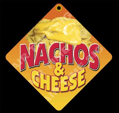 "NACHOS Diamond Concession Sign Trailer Restaurant 12/"" x 12/"" 2 sided"