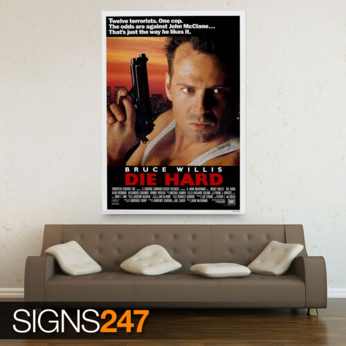 CLASSIC 80S ZZ036 DIE HARD MOVIE POSTER Poster Print Art A0 A1 A2 A3