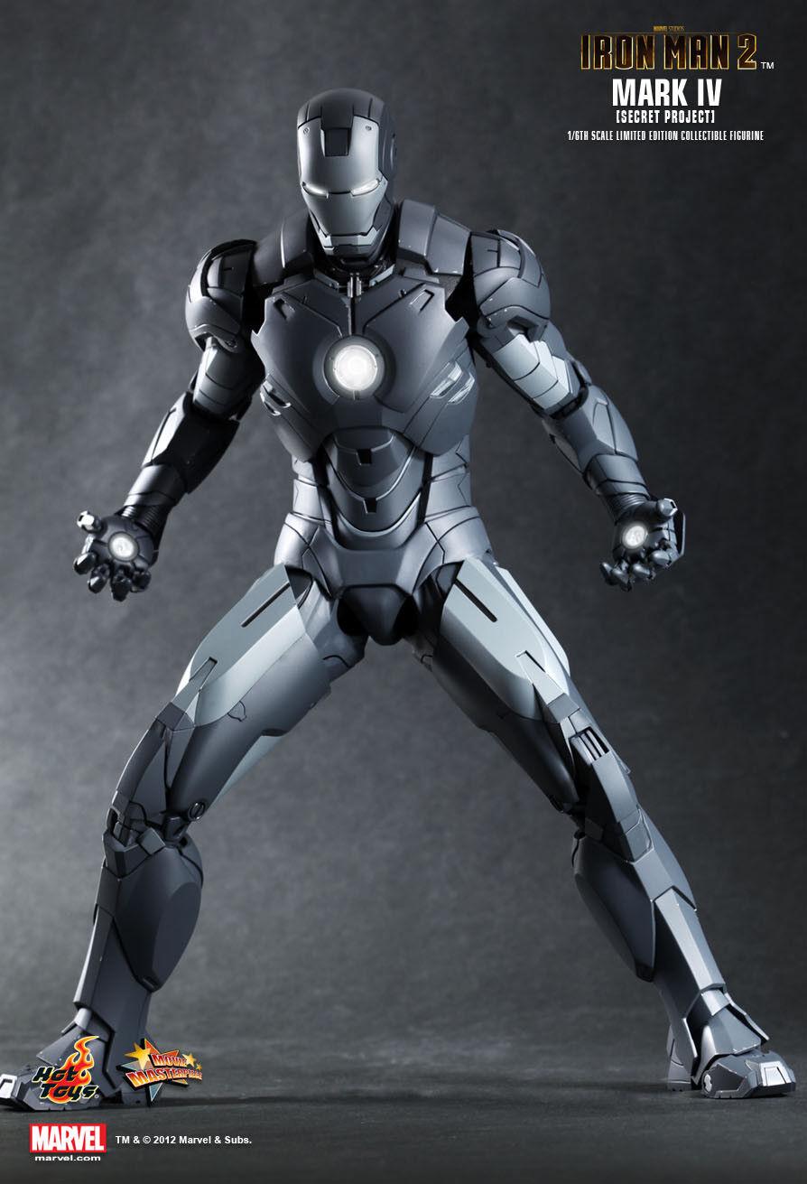 Hot Toys Iron Man Mark Iv Proyecto Secreto MMS153 1 6 Figura Nueva Sellada Exclusivo