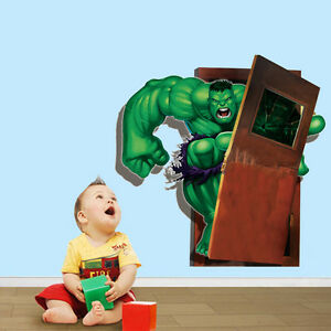 Hulk 3d Wandtattoo Kinderzimmer Aufkleber Wandsticker Marvel
