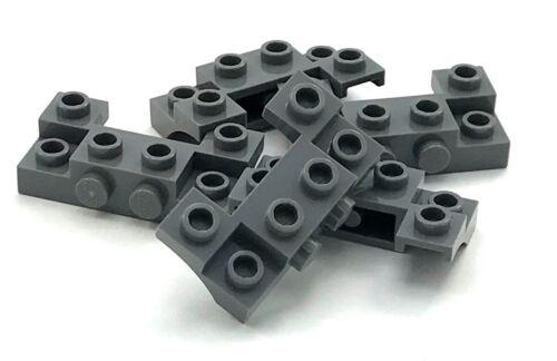 Lego 10 New Dark Bluish Gray Bricks Modified 2 x 4 1 x 4 2 Recessed Pieces