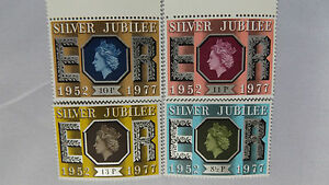 SILVER JUBILEE STAMPS X 4 MINT - <span itemprop=availableAtOrFrom>Carmarthenshire, United Kingdom</span> - SILVER JUBILEE STAMPS X 4 MINT - Carmarthenshire, United Kingdom