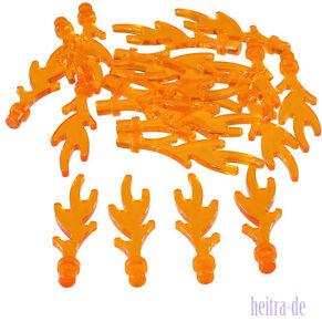 LEGO-20-x-Flamme-klein-transparent-orange-Flammen-6126b-NEUWARE