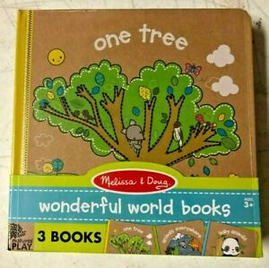 Melissa and Doug Natural Play Book Bundle 3 Wonderful World Books #31245 NEW