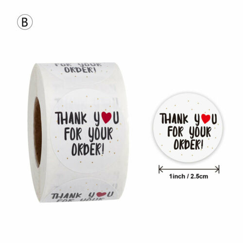 Style 500Pcs Handmade Love Thank You Stickers Wedding Birthday Party Labels 10