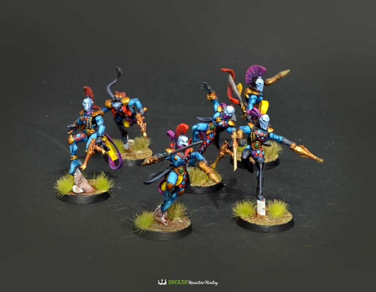 Harlequin  Troupe warhammer 40K  COMMISSION   painting  autorizzazione