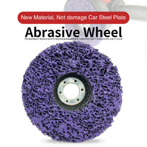 5X Poly Strip Disc Abrasive Wheel Paint Rust Removal Clean For Angle Grinder