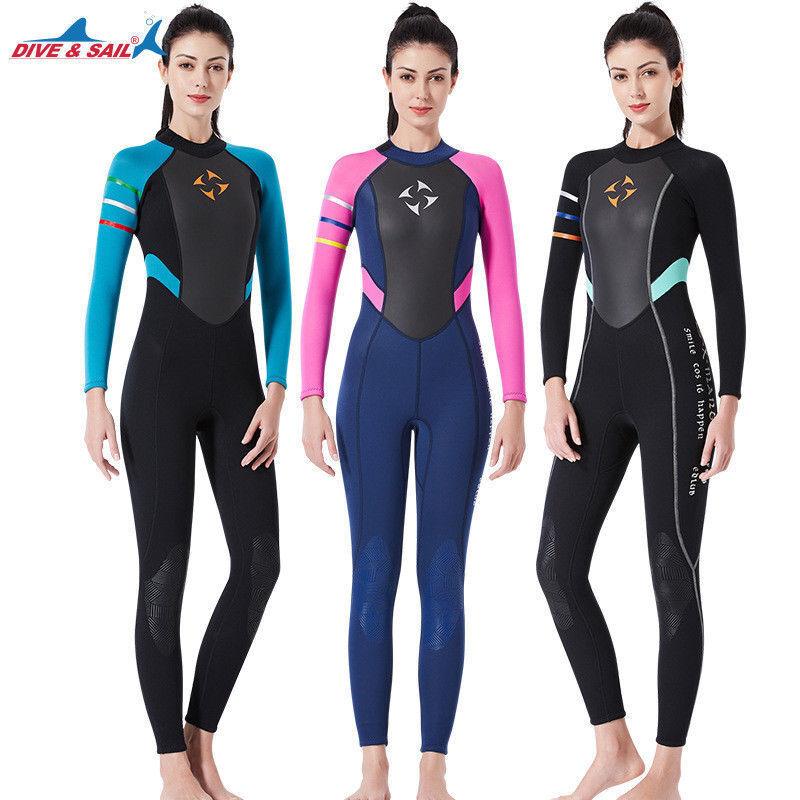 3mm Women's Full Body Wetsuit Warm Scuba Diving Suit Snorkeling Surfing Wetsuit