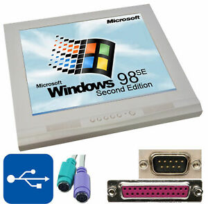 """17"""" 43 Cm Moniteur Avec 1 Ghz Ordinateur Dans Un Avec 12 V Rs-232 Ltp Windows 98se M2-afficher Le Titre D'origine"""