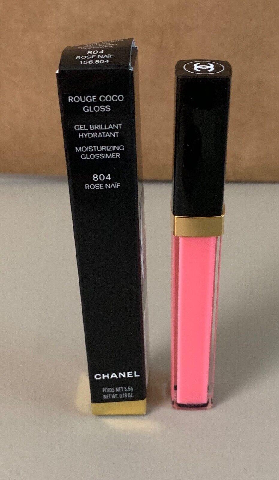 e08bd43bcb CHANEL Rouge Coco Gloss Moisturizing Glossimer 804 Rose Naif Full Size