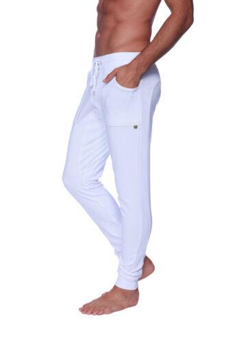 White Long Cuffed Jogger Yoga Pants