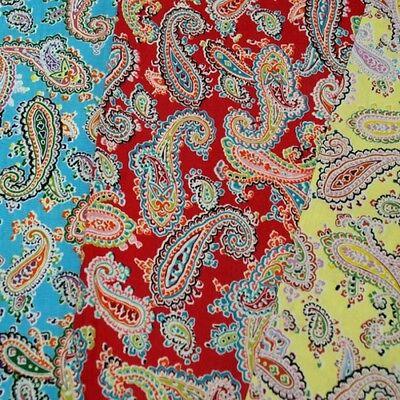 Bright Floral Paisley Swirl Multi Colour 150cm 100% Cotton Fabric