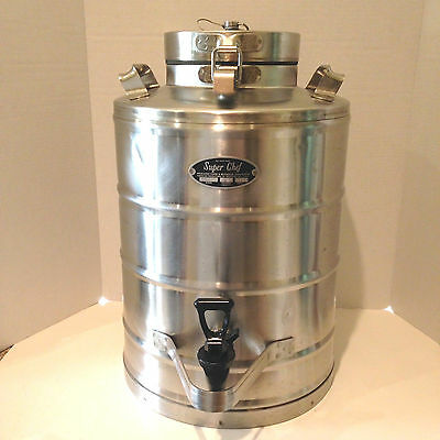 Super Chef MILITARY Insulated 5 gal Beverage Container Model MIL-5    STAINLESS