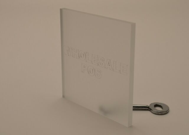 FROSTED PERSPEX ACRYLIC PLASTIC SANDBLASTED EFFECT SHEET 150 x 150x 3MM