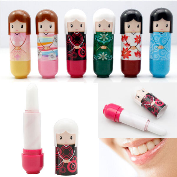 New Lovely Princess Doll Lipstick Lip Gloss Lip Balm Cute Makeup Tools Lot
