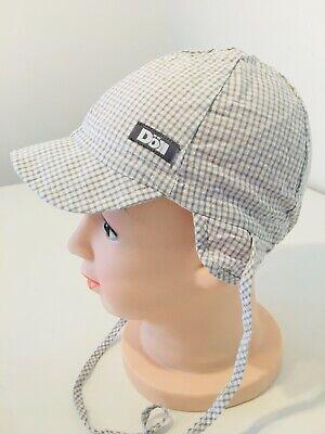Aggressivo Döll-berretto Cappello Da Sole Protezione Collo Grigio A Quadri-nuovo Taglia 47 M125a-mostra Il Titolo Originale