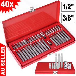 40Pc-Allen-Key-Torx-Hex-Star-Spline-Socket-Set-Bit-1-2-3-8-Drive-Car-Repair-OZ