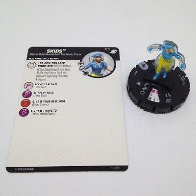 Heroclix X-Men Xavier/'s School Skids #015 Common w// Card