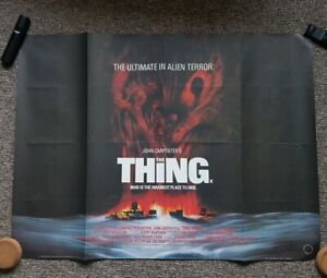 VERY-RARE-John-Carpenter-039-s-The-Thing-original-UK-Cinema-QUAD-POSTER