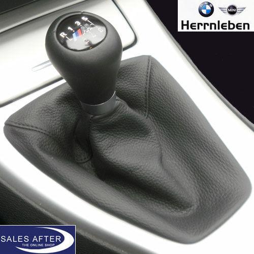 Original BMW E90 E91 E92 E93 M Schaltknauf Short Shift Schaltbalg Leder schwarz