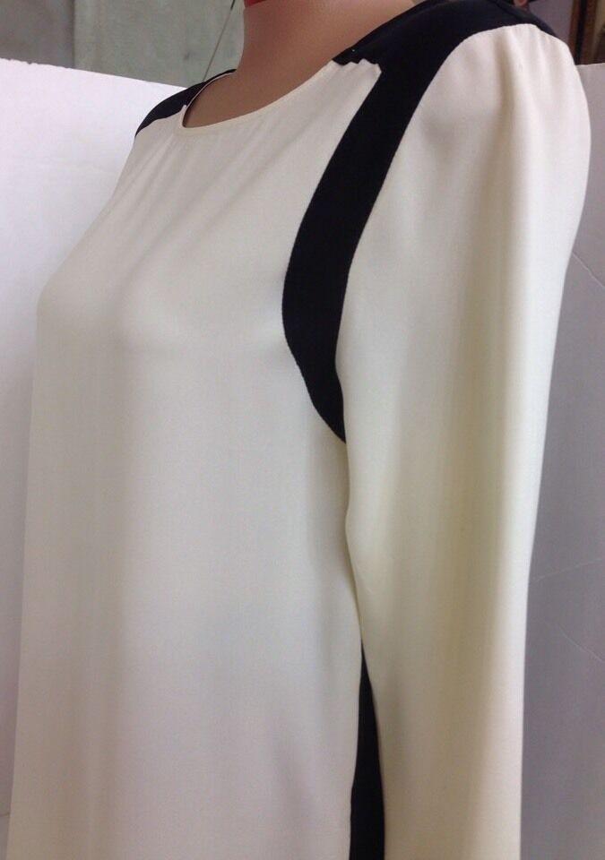 Rag & Bone Blouse Ivory And Black Silk Size Med - image 5