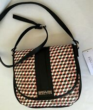 KENNETH COLE REACTION CROSS BODY/Saddle Coral Combo/Messenger Bag/$79/NWT