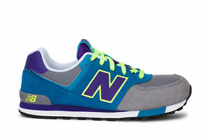 Details about New Balance Kids Sneakers 574 Cut And Past Grey Teal purple KL574AIG