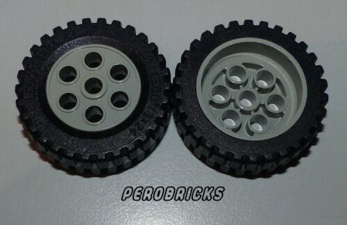 13 x 24 althellgraue Felgen #2695 Lego Technic Technik 2 Räder Rad Reifen #2696