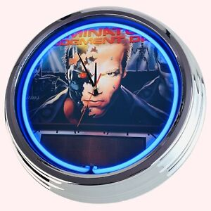 N-0703-Reloj-de-Pared-034-Pinball-Terminator-2-Williams-1991-034-Neonuhr-Cocina-Salon