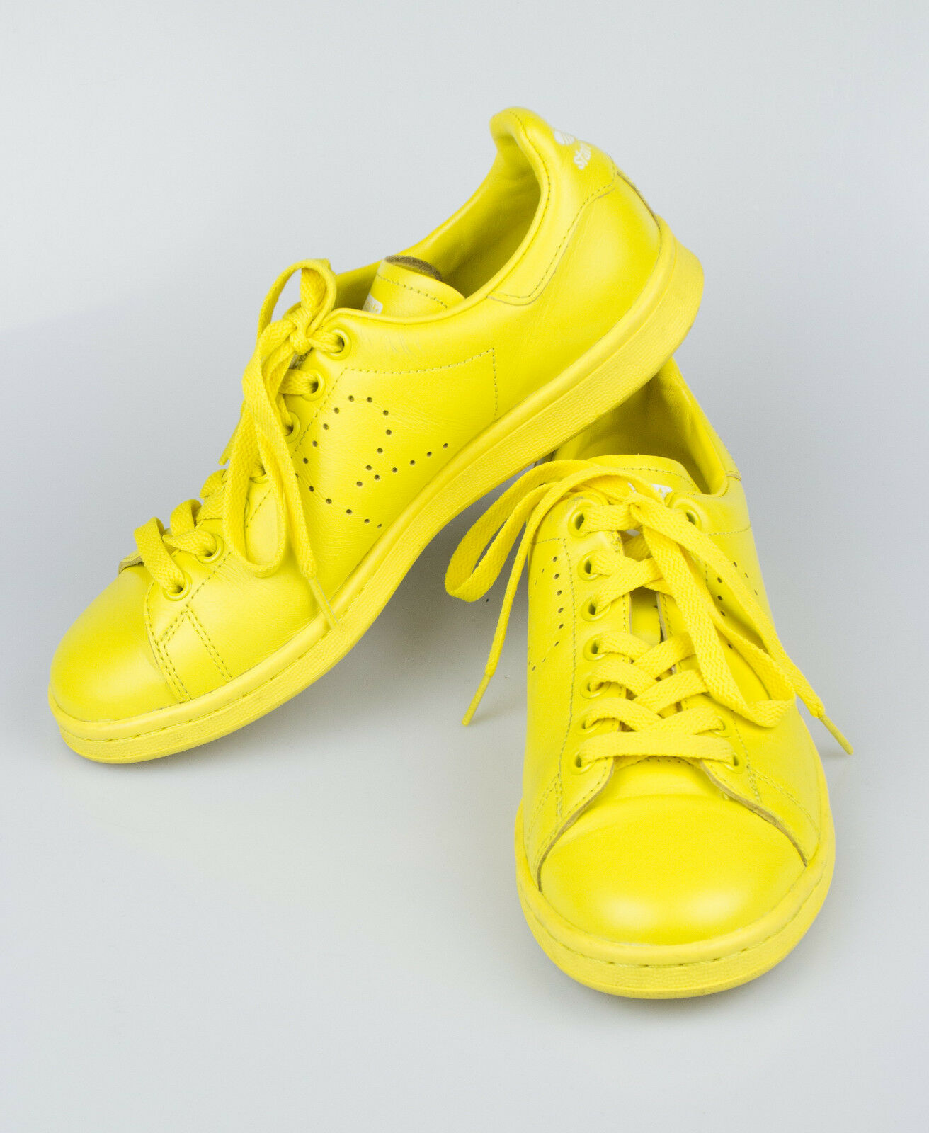 New. ADIDAS RAF SIMONS STAN SMITH Yellow Leather Sneakers Shoes 6.5/39.5 455
