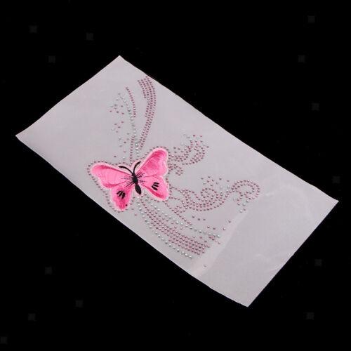 Strassmotiv zum Aufbügeln Schmetterling hotfix Applikation aus Strass,