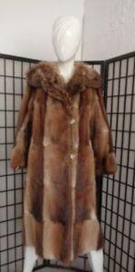 Natural Mint Raccoon Jacket Petite 4 Size Women Coat Woman Muskrat W Fur dAOArwq